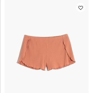 Ribbed Knit Pajama Shorts